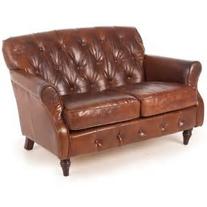 leather sofa with buttons vintage leather button back 2 seater sofa next day