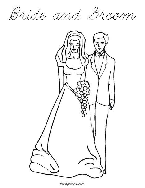 print this coloring page itll print full page bride and groom coloring page cursive twisty noodle