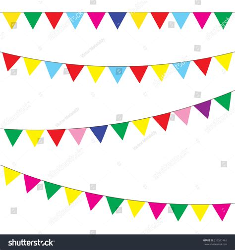 design love fest garland bunting garland set colorful festive flags stock vector