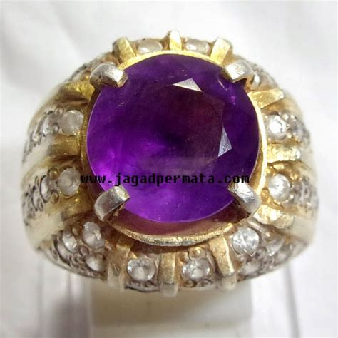 Batu Akik Flourite Ungu Iga063 batu cincin kecubung ungu jual batu permata hobi permata