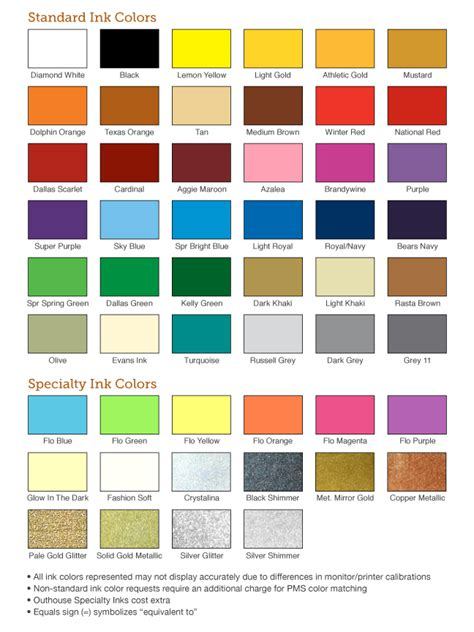 ink color pantone screen printing ink colors