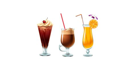 glass  summer drinks  vector  png