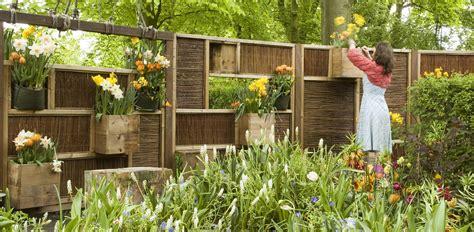 buren bloemen schutting met invulbare vakken voor grote diversiteit aan