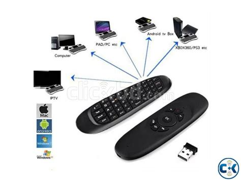 Sealed New C120 2 4g Air Mouse Wireless Keyboard Remote For An c120 2 4ghz mini wireless air mouse with qwerty keyboard s