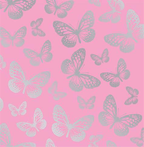 schlafzimmerdekoration für mädchen rosa schmetterling tapete 10m lang kinder m 196 dchen