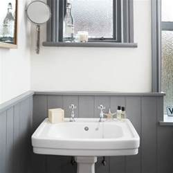 Grey Bathrooms Decorating Ideas White And Grey Bathroom With Traditional Basin Bathroom Decorating Housetohome Co Uk