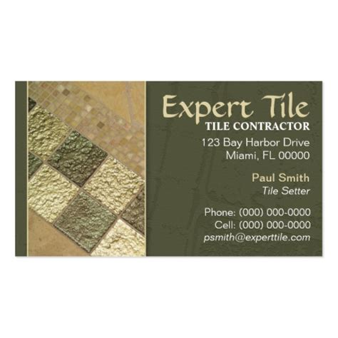 business cards designs templates for tile installer business card templates bizcardstudio