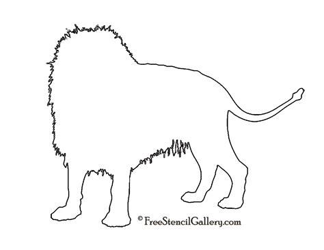 lion silhouette stencil  stencil gallery