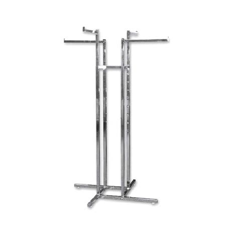 4 Arm Clothing Rack by 4 Way Rack With All Arms Garment Racks Clothes Rack