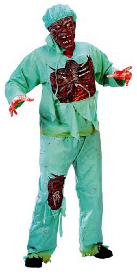 gory mens mad doctor dr zombie halloween horror fancy