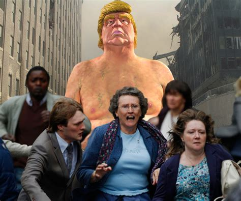 naked trump statues gross  americans  major cities