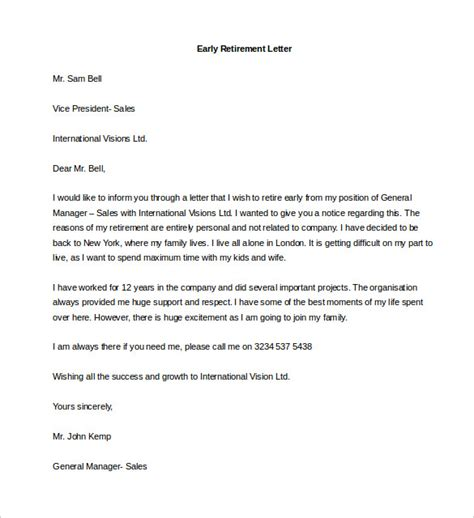 retirement letter retirement letter sle how to format cover letter