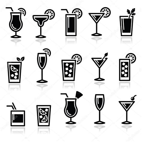 mixed drink clipart black and white beverages clipart black and white imgkid com the