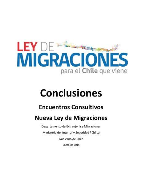 ley 408 de conclusion conclusiones proceso consultivo para la nueva ley de