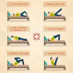 exercises you can do in bed 10 exercises you can try in your bed visual ly