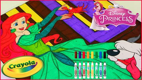 crayola giant coloring pages color by number princess ariel crayola giant color by number disney on