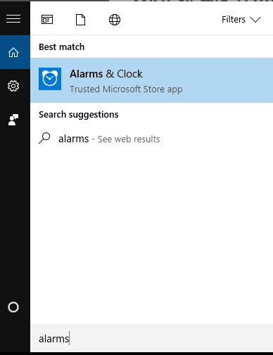 how to use windows 10 pc as personal alarm clock