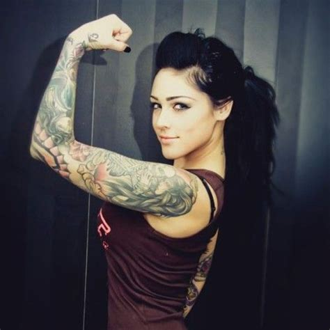 hot tattoo sleeves tough girl tattoos pinterest sexy sleeve and girls