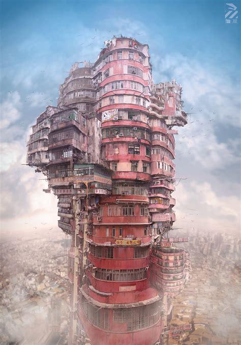 babel a blog of modern architecture blog dystopian artwork inspired by cyberpunk hong kong