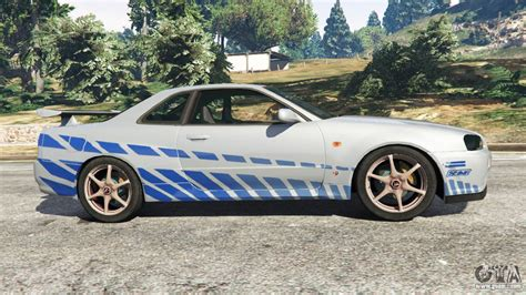 nissan r34 fast and furious nissan skyline r34 gt r 2002 fast and furious for gta 5