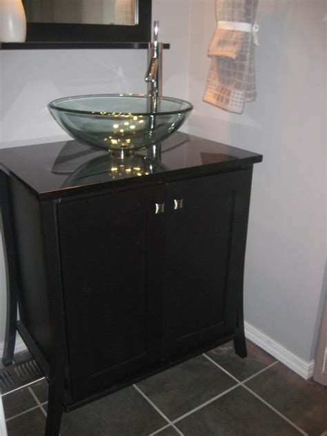diy bathroom vanity plans guest bath top remodel f design with glass bowl sink combo also black