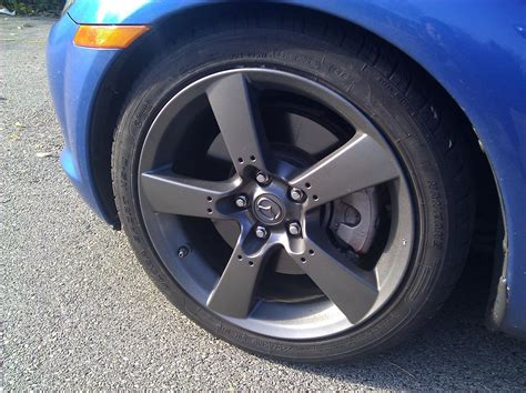 galaxy gray rx8 with stock rims painted gun metal rx8club