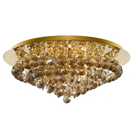 Gold Ceiling Lights Searchlight 3208 8go 8 Light Gold Semi Flush Ceiling Light