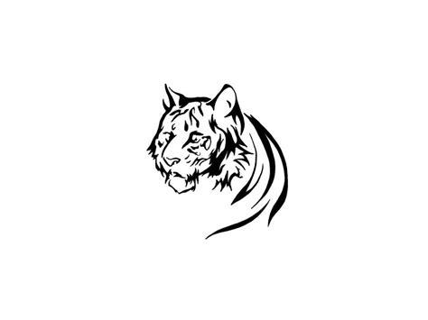 tiger tattoo outline designs feminine tiger tattoos free designs of tiger