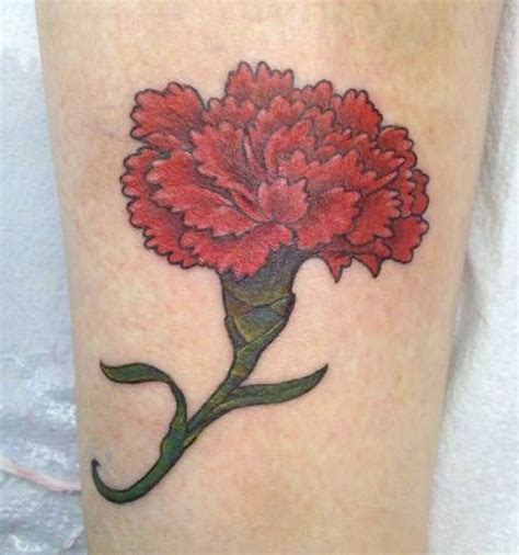 january birth flower tattoo carnation birth flowers and births on