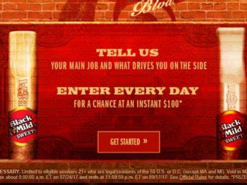 Black And Mild Giveaway - black and mild sweets blvd instant win game