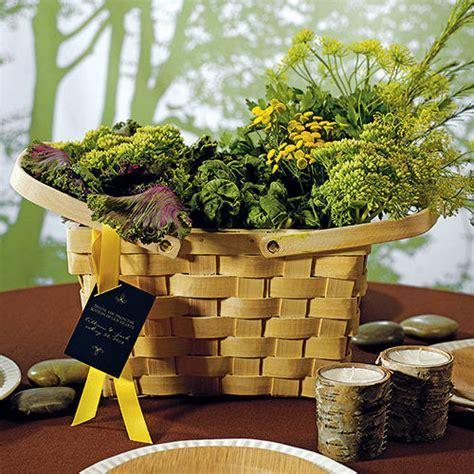 Decor Picnic Basket Wedding Centerpieces