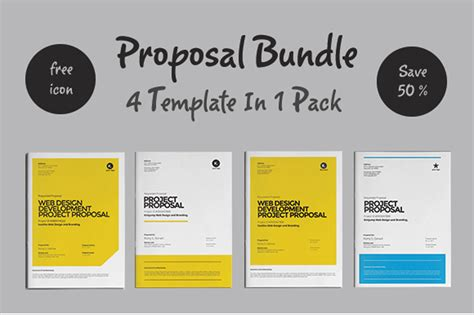 proposal layout design templates web design proposal brochure templates on creative market