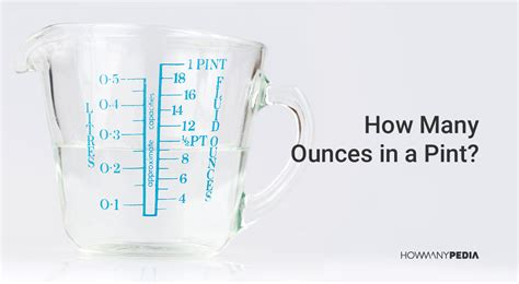 how many ounces in a pint howmanypedia