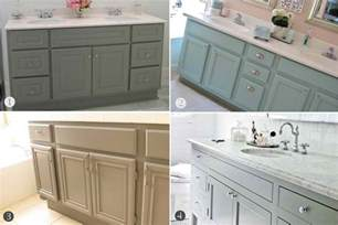 Painted Bathroom Cabinets Ideas by Inspired Honey Bee Home Bathroom Cabinets Upgrade