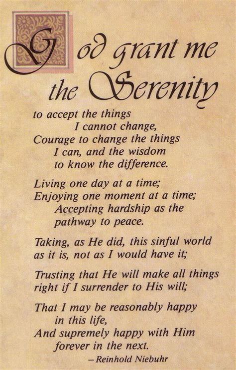 Full Version Of Serenity Prayer | serenity prayer full version inspirations quotes