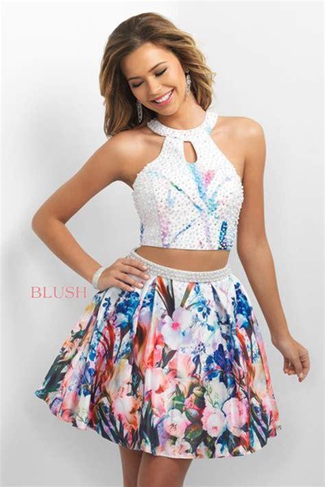 blush  floral  piece short dress madamebridalcom