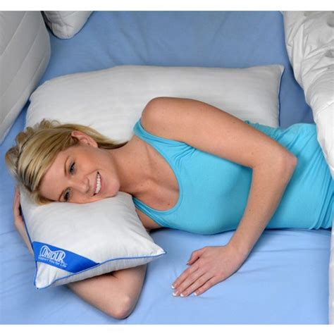 contoured l shaped pillow for side sleeping