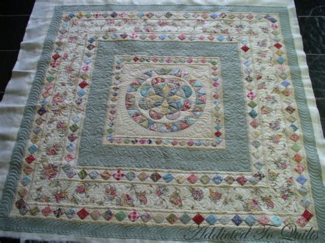 Photo On Fabric Quilting by Addicted To Quilts Medallion Quilt In Liberty Fabrics