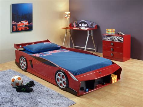 cer with king size bed cha 387 red sports car bed furtado furniture