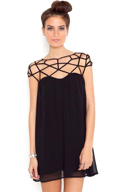 Dress Fit To L Length 77cm Material Kaos 4 black cut out shift chiffon mini dress abaday