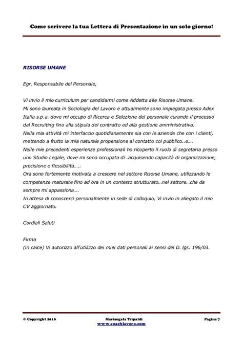 lettere accompagnamento curriculum esempio esempio di lettera di accompagnamento al curriculum vitae