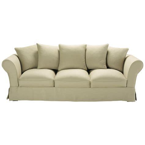 divani in lino divano beige in lino 4 5 posti roma maisons du monde
