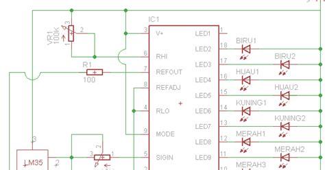 Termometer Otomatis rangkaian pengukur suhu otomatis ic lm35 buka elektro