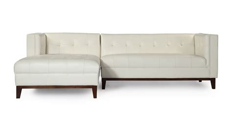 aniline leather sectional harrison modern loft sofa chaise sectional left face