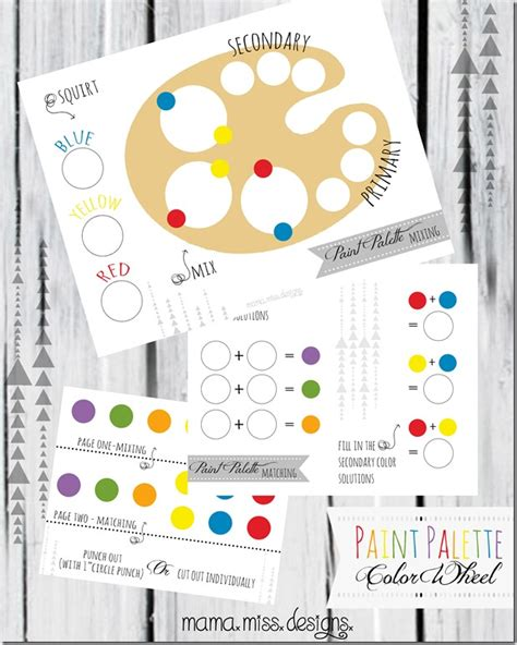 paint color templates free paint palette printable for fab n free