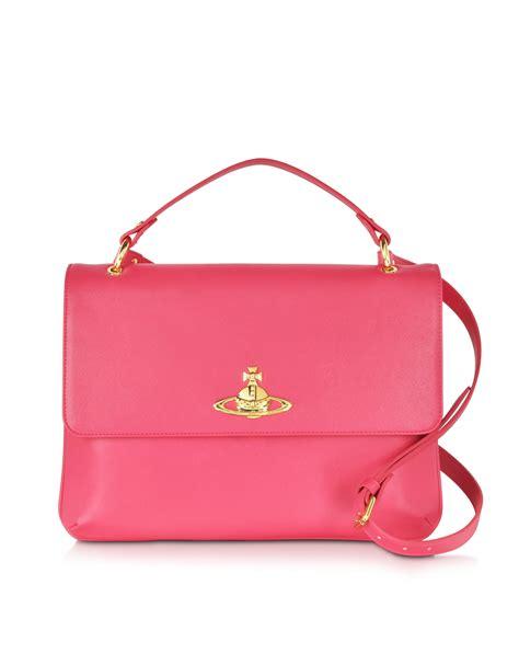Vivienne Westwood Label Bags by Vivienne Westwood Divina Coral Eco Leather Crossbody Bag