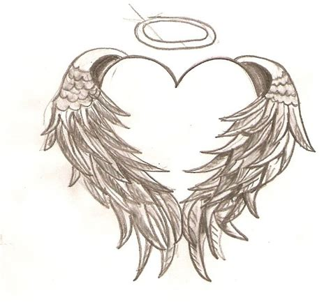 tattoo with angel wings and heart heart with angel wings tattoo tattoo design pinterest