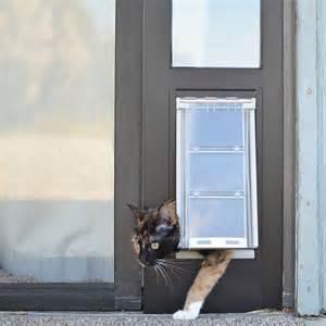 door with cat door thermo panel 3e cat door for sliding glass doors