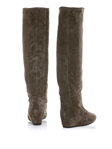 womens knee high boots lanvin suede knee high boots for www teexe