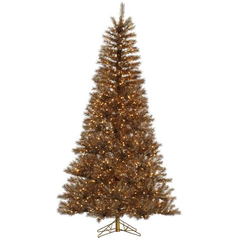 gold metal mixed tinsel christmas tree vck4556
